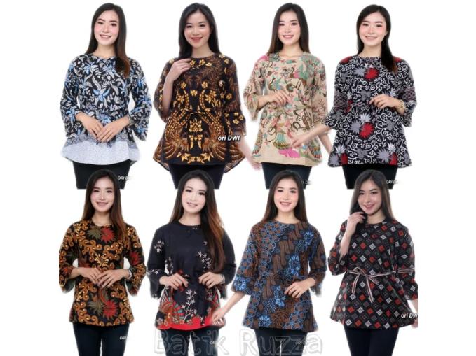 Inspirasi Model Baju Batik Wanita Lengan Panjang 1