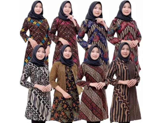 Inspirasi Model Baju Batik Wanita Lengan Panjang 2