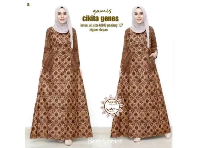 Inspirasi Model Baju Batik Wanita Lengan Panjang 3